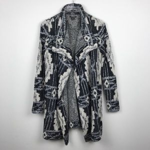 Lucky Brand | Aztec Pattern Cardigan Sweater Wrap